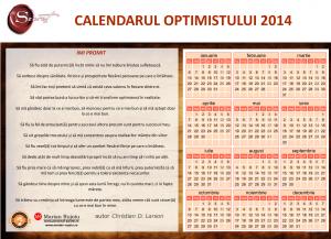 Crezul Optimistului – Calendarul Optimistului 2014
