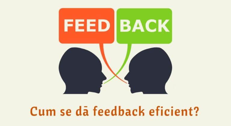 Tipuri de feedback si cum se da feedback eficient ...