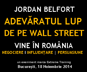 JORDAN BELFORT - BILETE CONFERITA - LUPUL DE PE WALL STREET