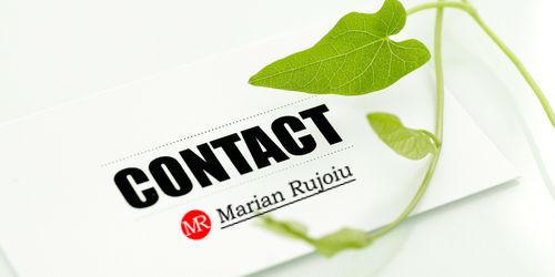 contact marian rujoiu