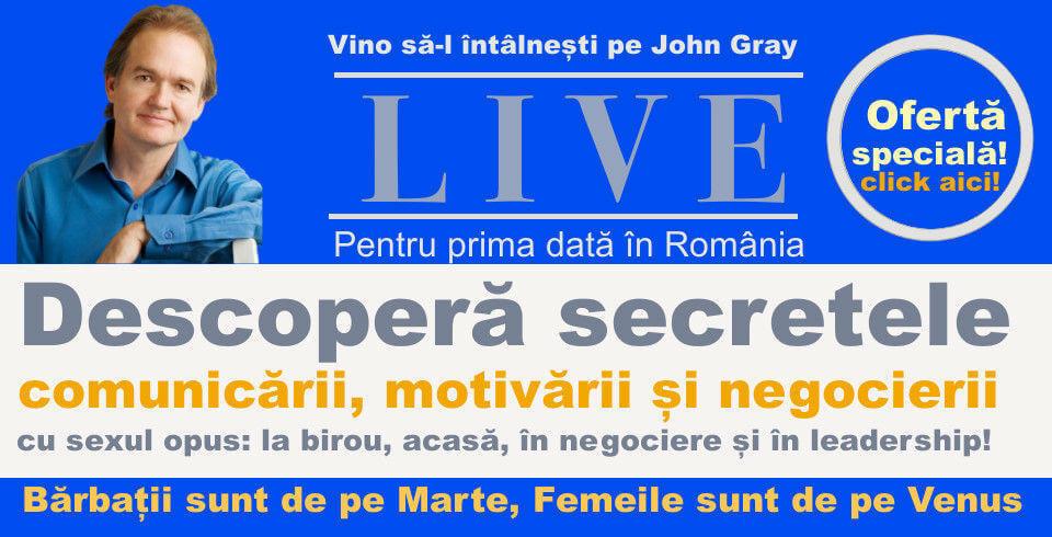 Bilete conferinta John Gray