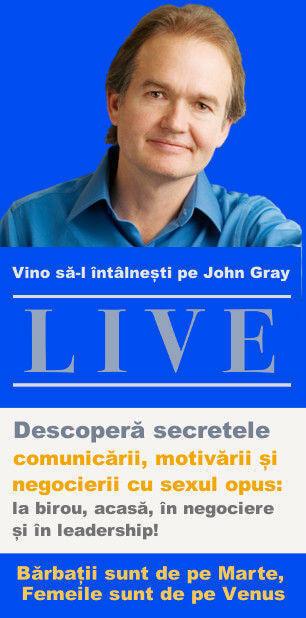 vertical - John gray live in Romania bilete conferinta